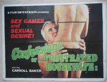 Confessions of a Frustrated Housewife, Original UK Quad Poster, Carroll Baker 76